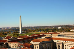 Washington DC, Washington-Denkmal im Herbst Lizenzfreies Stockbild