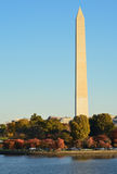 Washington DC, Washington Monument in Autumn royalty free stock image