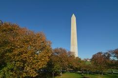 Washington DC, Washington Monument in Autumn Stock Photo