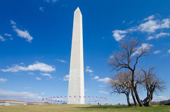 Washington DC, Washington Monument en premier ressort Images libres de droits