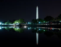 Washington, DC - Washington Monument reflecting in Tidal Basin. This is an image of the Washington Monument reflecting in the Tidal Basin at night during the Royalty Free Stock Images
