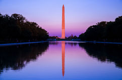 Washington DC, Washington Monument at sunset Royalty Free Stock Images