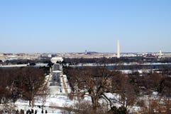 Washington DC in winter. Skyline of Washington DC in winter, as seen from Arlington, Virginia, across the Potomac River Royalty Free Stock Photography