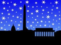 Washington DC in winter royalty free illustration