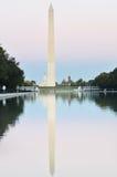 Washington DC, WO.II-Gedenkteken, Capitool en Monument Stock Foto
