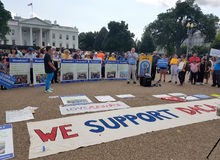 WASHINGTON DC - Wrzesień 03, 2017: DACA i sen aktu protesty Fotografia Royalty Free