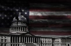 Washington DCcapitolen knäckte royaltyfria foton