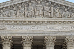 Washington DChögsta domstolenfasad Arkivfoto