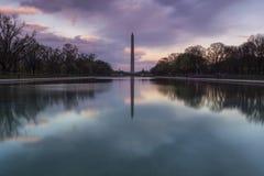Washington-Denkmal vom Lincoln-Denkmal Lizenzfreie Stockfotos