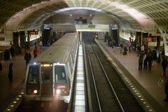 WASHINGTON, DISTRICT OF COLUMBIA - APRIL 14: Washington DC Metro Subway Train Station on April 14, 2017 Royalty Free Stock Image