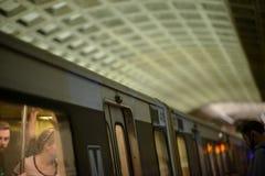 WASHINGTON, DISTRICT OF COLUMBIA - APRIL 14: Washington DC Metro Subway Train Station on April 14, 2017 Royalty Free Stock Photo