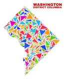 Washington District Columbia Map - mosaïque des triangles de couleur illustration libre de droits
