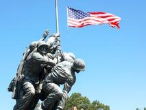 WASHINGTON, DISTRICT OF COLUMBIA, USA- SEPTEMBER 11, 2015: iwo jima memorial statue close up, washington. WASHINGTON, DISTRICT OF COLUMBIA, USA- SEPTEMBER 11 royalty free stock images