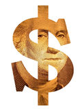 Washington Dollar. An illustrated dollar sign with George Washington face on it, isolated on a white background Stock Photography