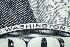 Washington Dollar Macro Fotografia Stock Libera da Diritti