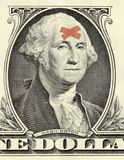 Washington dollar portrait with bandages Stock Image