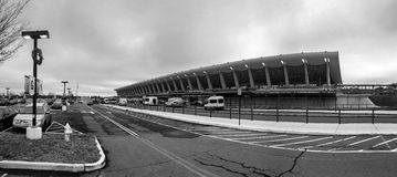 Washington Dulles Airport in Black and White Stock Image