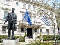 Washington Eleftherios Venizelos perto da embaixada grega 2010 fotografia de stock royalty free