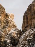 Washington en el monte Rushmore en invierno Fotos de archivo