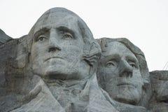 Washington en Jefferson op Rushmore stock afbeeldingen