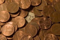 Washington en Lincolns royalty-vrije stock afbeeldingen