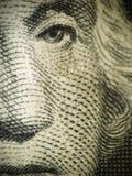 Washington Engraving. Macro of Washington's face on a dollar bill Stock Photo