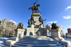 Washington Equestrian Monument - Richmond Virginia fotografia stock