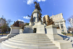 Washington Equestrian Monument - Richmond Virginia royalty free stock photo