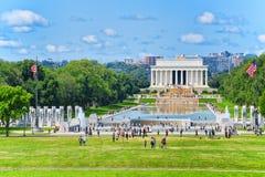 Washington, Etats-Unis, Lincoln Memorial, U S Mémorial et OE nationaux photos stock
