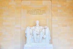 Washington, Etats-Unis, monument pour Abraham Lincoln photo libre de droits