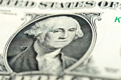 Washington eyes on dollar bill Stock Photos