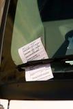 washington för jobbanvisning för bildc-parkering windshield royaltyfri bild