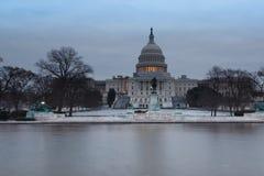 Washington för morgon för US-Capitolvinter DC Arkivbilder