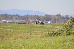 Washington Farmer Tedding Hay Royalty Free Stock Images