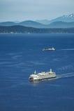 Washington Ferry on Puget Sound Stock Photo