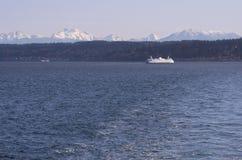 Washington Ferry tijdens de winter Royalty-vrije Stock Foto