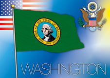 Washington flag Royalty Free Stock Image