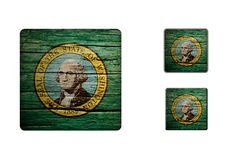 Washington flaggaknappar Royaltyfria Foton