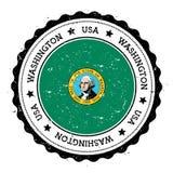 Washington-Flaggenausweis Stockfotografie