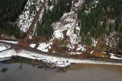 Washington Forest Mudslides Fotografia de Stock Royalty Free