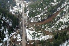 Washington Forest Mudslides Fotografia de Stock