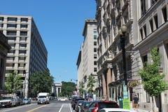 Washington gataparkering Fotografering för Bildbyråer