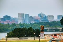 Washington, gelijkstroom-cityscape Royalty-vrije Stock Foto's