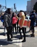 WASHINGTON, GELIJKSTROOM, DE V.S. - 24 MAART, 2018: Maart voor Ons Leven protes Stock Foto