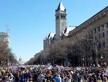 WASHINGTON, GELIJKSTROOM, DE V.S. - 24 MAART, 2018: Maart voor Ons Leven protes Stock Afbeelding