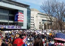WASHINGTON, GELIJKSTROOM, DE V.S. - 24 MAART, 2018: Maart voor Ons Leven protes Royalty-vrije Stock Afbeeldingen