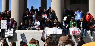 WASHINGTON, GELIJKSTROOM, DE V.S. - 24 MAART, 2018: Maart voor Ons Leven protes Stock Foto's