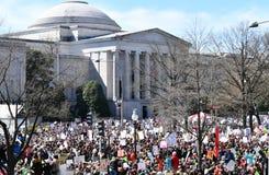 WASHINGTON, GELIJKSTROOM, DE V.S. - 24 MAART, 2018: Maart voor Ons Leven protes Royalty-vrije Stock Afbeelding