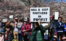 WASHINGTON, GELIJKSTROOM, DE V.S. - 24 MAART, 2018: Maart voor Ons Leven protes Stock Afbeeldingen