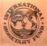 Washington, gelijkstroom - 04 Juni, 2018: Embleem van Internationale Monetair royalty-vrije stock fotografie